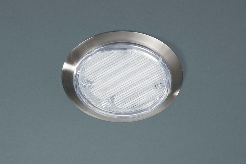 Massive Einbaudownlight Flow, Metallisch,transparent, Metall/Kunststoff, 599151710
