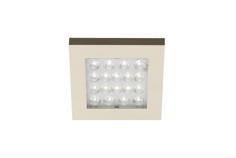 Heitronic LED Schrankaufbauleuchte Kwadru LED, Metallisch, Kunststoff, 23648