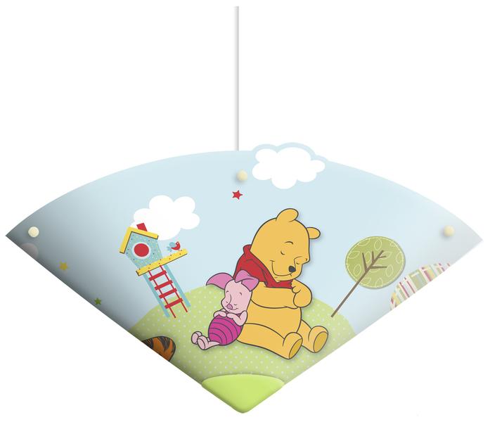 Spearmark Deckenleuchte Winnie Pooh Bär, Blau, Kunststoff, 61523SUSP