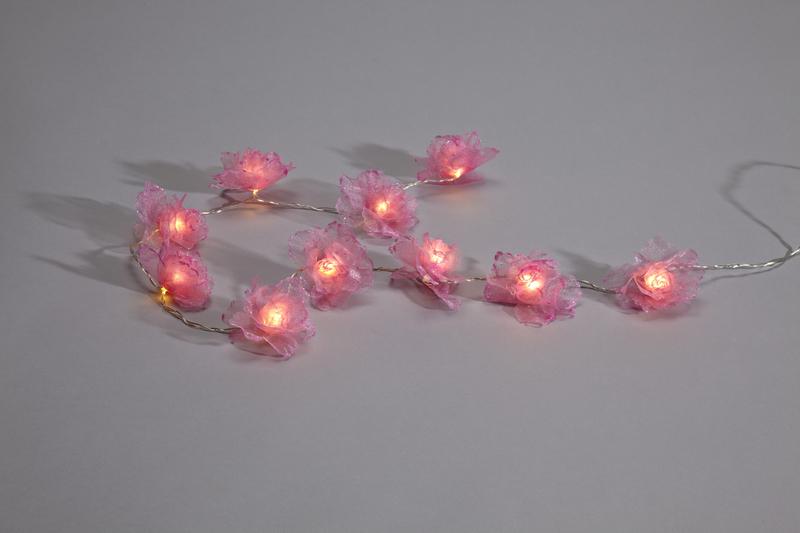 Markslöjd LED Lichterkette Brogard Ljusslinga Rosa 10LED Varmvit Batteri/Trafo, Violett, 702098