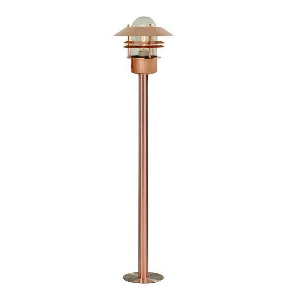Nordlux Sockelleuchte Blokhus, Braun,metallisch, Glas/Kupfer, 25078030 | Lampen > Aussenlampen > Sockelleuchten