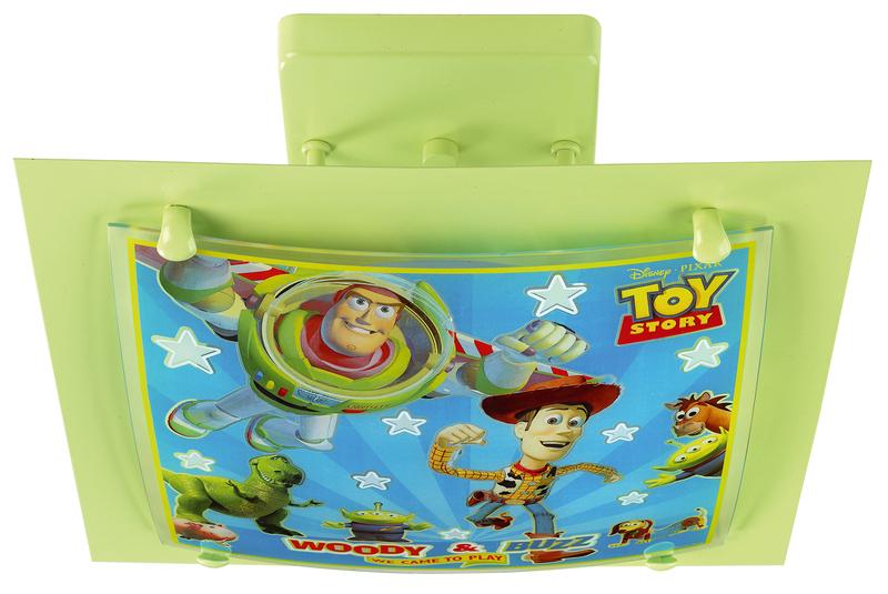 Dalber Kinderleuchte Toy Story, Grün, Glas/Meta...