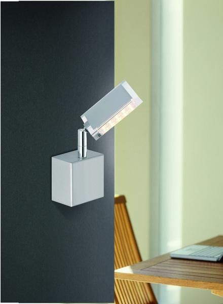 Paul Neuhaus LED Wandleuchte Futura LED 1 X 6W, Grau, Metall, 9135-55