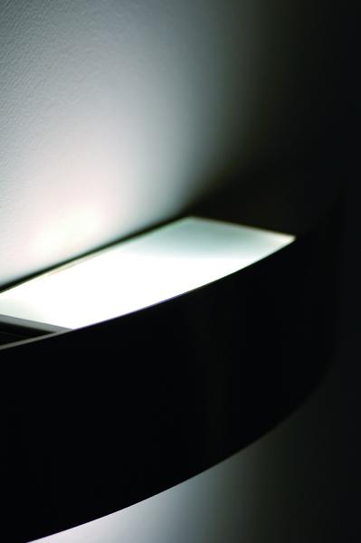 FontanaArte Spiegelleuchte Riga (5214/1NS), Metallisch/transparent, Metall/Glas, 5214/1NS | Lampen > Badlampen | Weiß | Metall