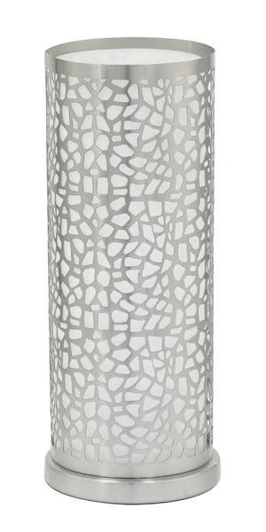 EGLO Tischleuchte Almera 1, Chrom,metallisch,weiß, Glas/Metall/Stahl, 90077