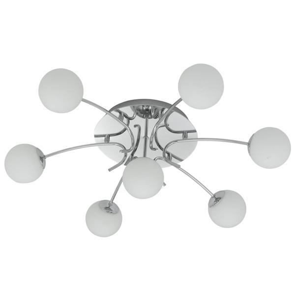 EGLO Halogenstrahler Gambo, Chrom,weiß, Opalglas/Glas/Metall, 90458