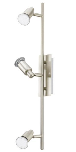 EGLO LED Strahlerbalken Eridan, Metallisch, Metall/Stahl, 90825