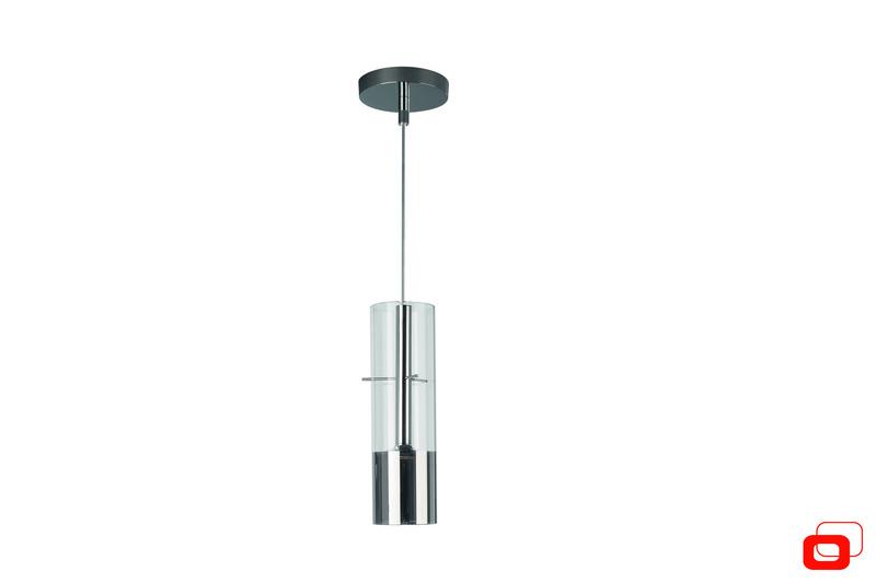Lirio LED Höhenverstellbare Pendelleuchte Tubuled 1, Chrom, Metall/Glas, 4071511LI