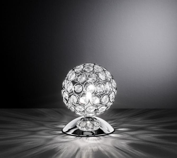 Wofi Tisch Kugelleuchte Holly, Chrom, Glas/Metall, 8568.01.01.0130   Lampen > Tischleuchten > Kugelleuchten