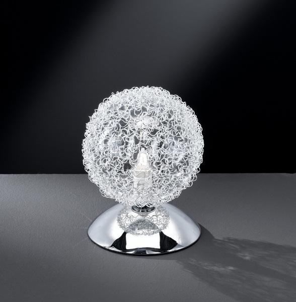 Wofi Tisch Kugelleuchte Arc, Chrom, Metall, 8306.01.01.0000   Lampen > Tischleuchten > Kugelleuchten