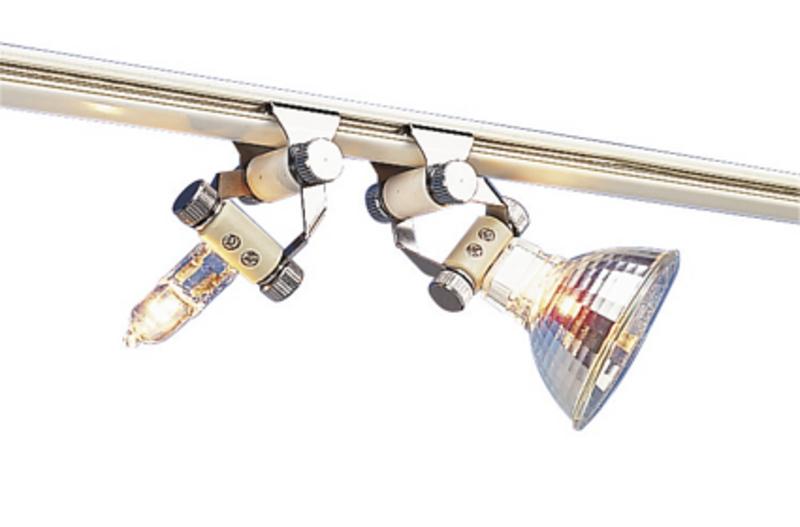 SLV Stromschienensystem Lampenhalter Schwenkbar (2 Stück), Metallisch, Aluminium, 180082