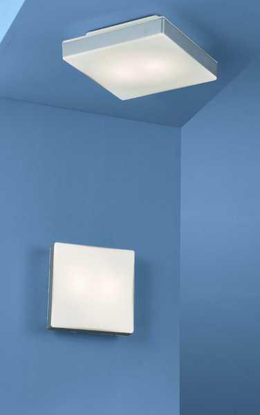Böhmer Wandleuchte Ceiling Square Light, Metallisch,weiß, Glas/ bei LeuchtenZentrale.de