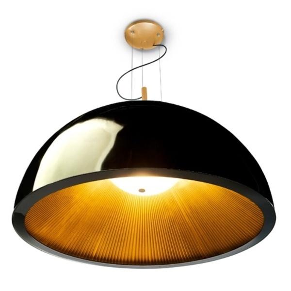 Grok by LEDS-C4 Pendelleuchte Umbrella, Schwarz, Glas/Stahl/Stoff, 00-2726-AP-05