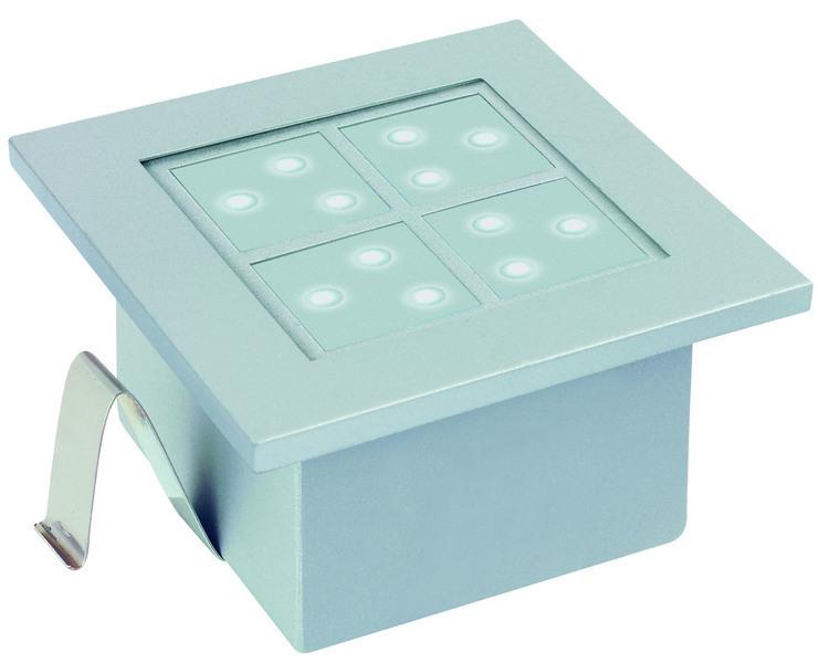 Paulmann LED Außenwandeinbauleuchte Profi EBL LED Window 2, Metallisch, Aluminium, 994.98