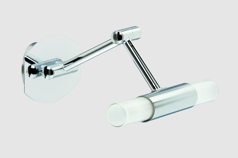 Briloner Spiegelleuchte Splash, Chrom,weiß, Glas/Metall, 2223-028