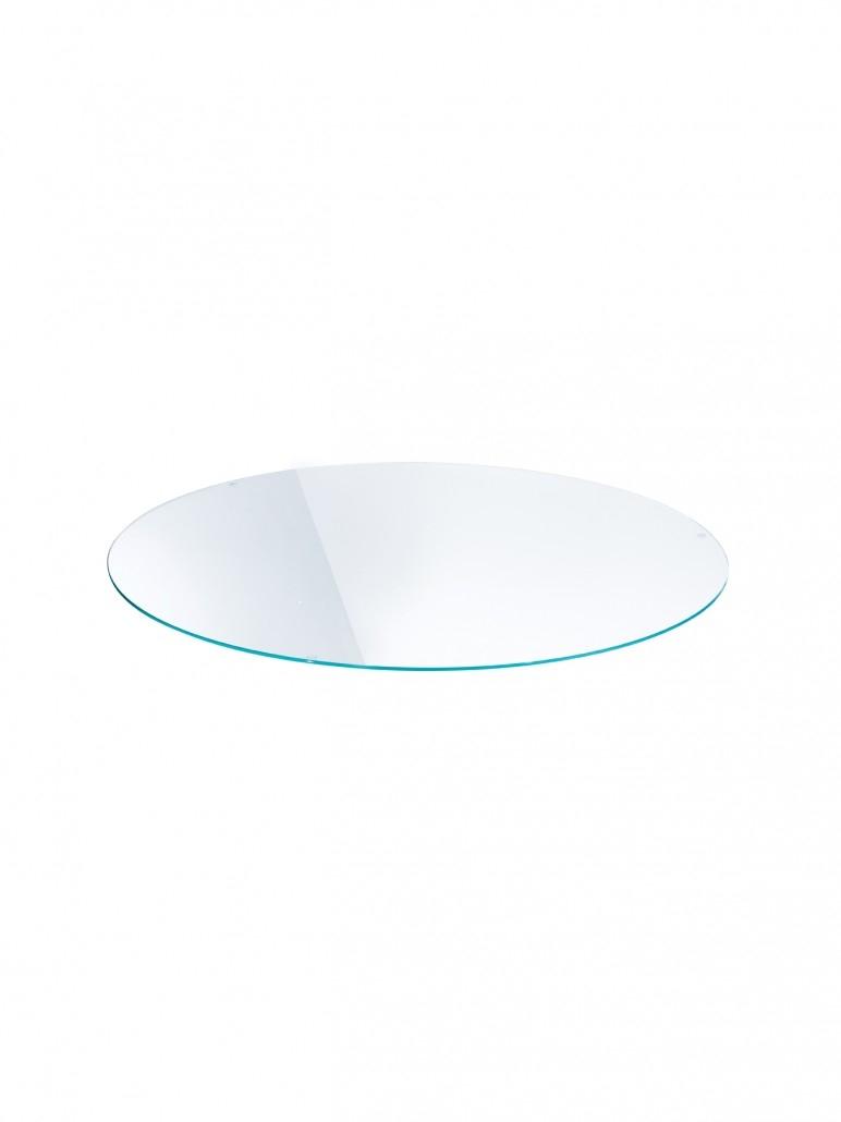 moree Ersatzteil Glas-Tischplatte (ohne Korpus-Gestell), Weiß, Glas, 04-01-01 | Wohnzimmer > Tische > Glastische