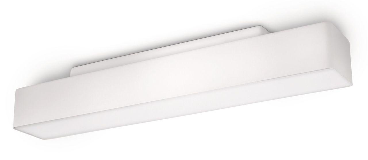Philips Deckenleuchte Peace, Weiß, Aluminium/Kunststoff, 334223116