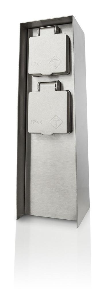 Philips Steckdose Rock IP44 Doppelsteckdose, Metallisch, Edelstahl, 171084716 | Baumarkt > Elektroinstallation | Edelstahl