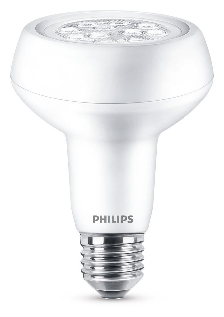 Philips LED E27 (R80) (ersetzt 100W), Transpare...
