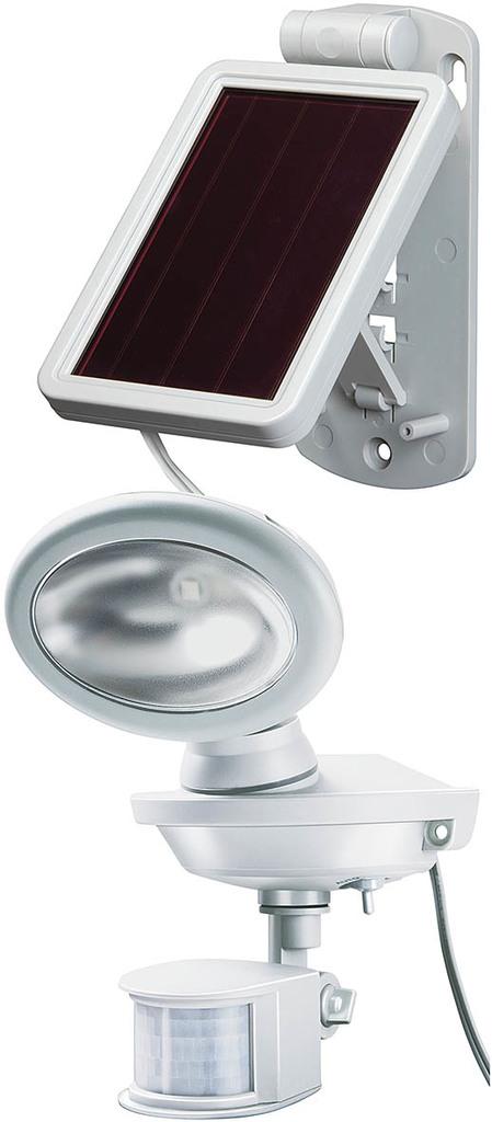 Brennenstuhl LED Solarstrahler SOL 14 Plus IP44 Mit IR-Bewegungsmelder, Grau/weiß, Kunststoff, Bewegungsmelder, 1170880