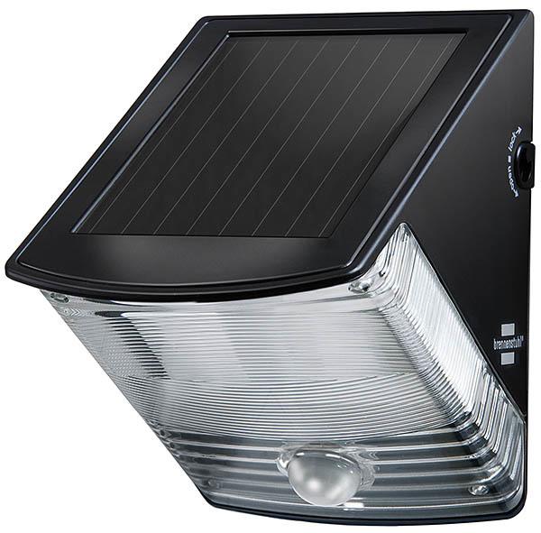 Brennenstuhl LED Solar Wandleuchte Solar SOL, Schwarz, Bewegungsmelder, 1170970