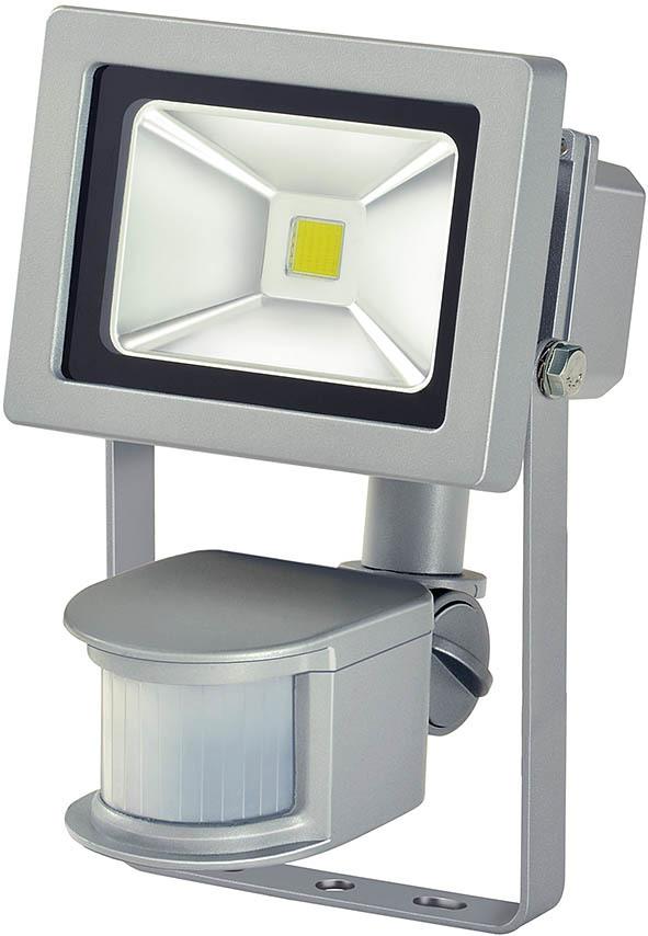 Brennenstuhl LED Außenwandleuchte Chip-LED-Leuchte L CN 110 PIR V2 IP44 Mit IR, Silber, 1171250122