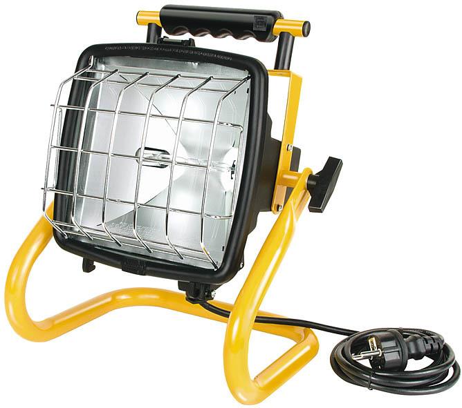 Brennenstuhl Außenstrahler Brobusta HIF 500, Gelb,schwarz, Metall, Bewegungsmelder, 1171600