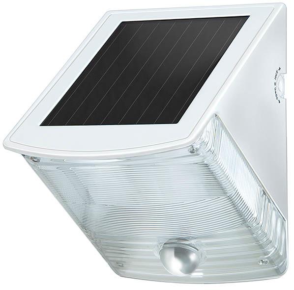 Brennenstuhl LED Solar Wandleuchte Solar SOL, Grau/Weiß, Bewegungsmelder, 1170870