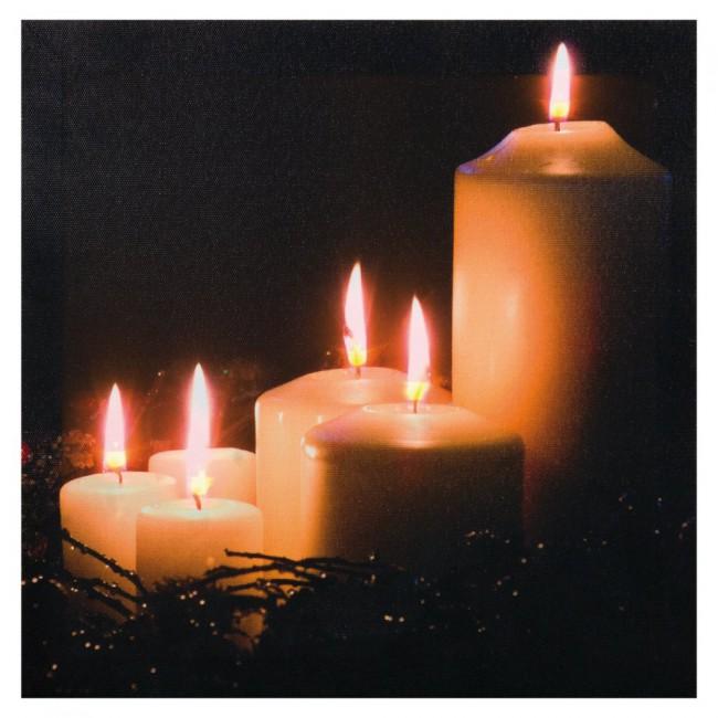 Leuchtbilder Kerzen