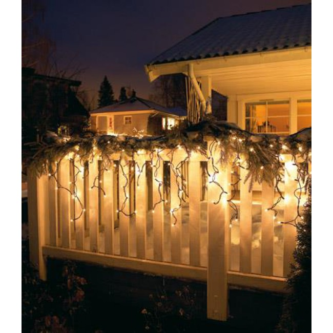 Lichterketten Vorhänge außen