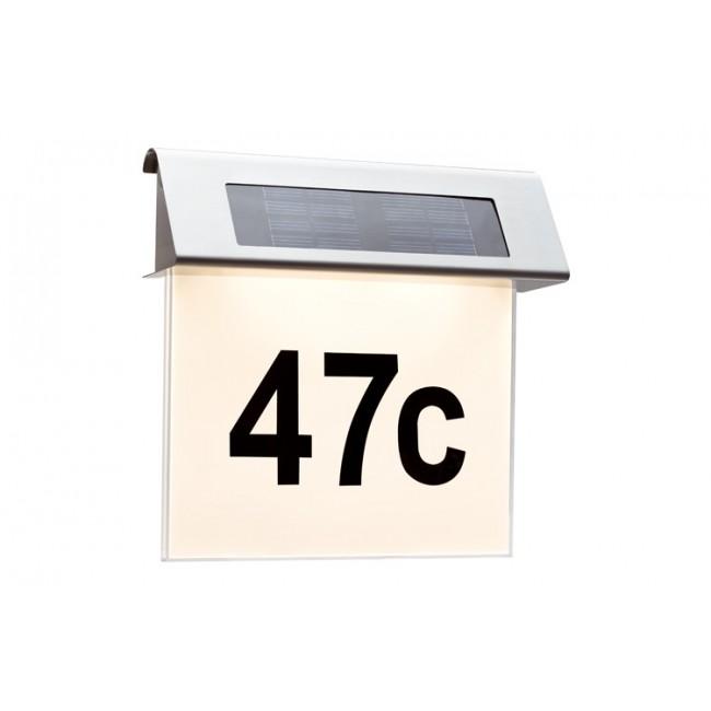 beleuchtete Hausnummern Solar